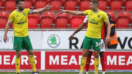 Grant Hanley and Ben Gibson have looked a solid partnership in central defence for Norwich City. Pic
