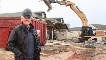 Denis McEvoy, operations director at the Mundesley Holiday Village, where work has started to demoli