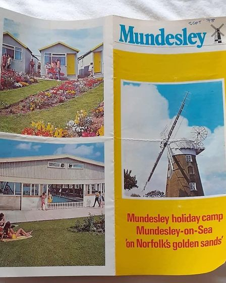 A page from a 1978 brochure for the Mundesley Holiday Camp, showing the site in all its glory. Image