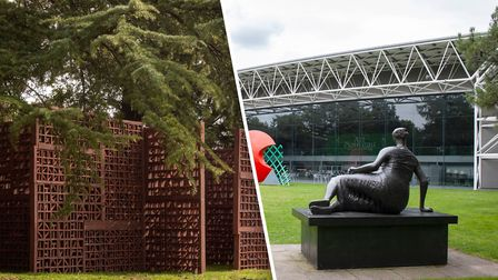New additions to the Sainsbury Centre's Sculpture Park by Cristina Iglesias. Picture: Cristina Igles