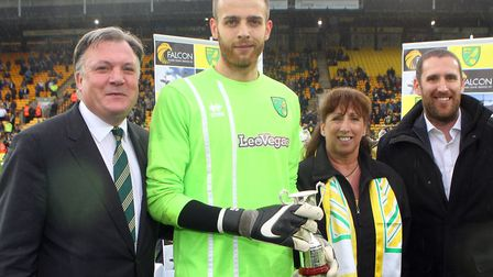 Norwich City fans voted Angus Gunn into third place in the Player of the Season voting for 2017-18
