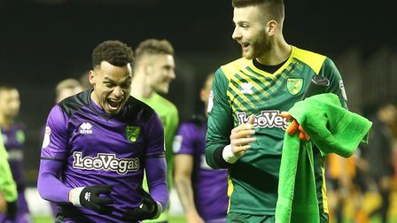 Angus Gunn and Josh Murphy, left, remain close friends Picture: Paul Chesterton/Focus Images