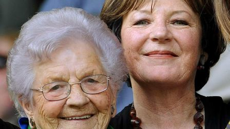 Delia Smith with her mother Etty, who has died aged 100; Photo: Bill Smith