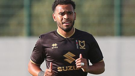 Norwich City midfielder Louis Thompson is set for a spell on the sidelines at MK Dons with a hamstri