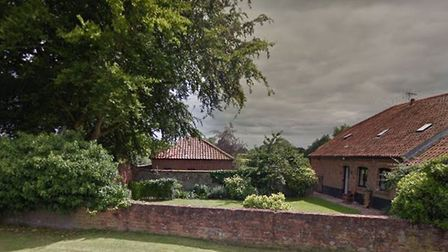 A barn outbuilding caught fire this afternoon in Rushmere, Suffolk. Credit: Google Maps