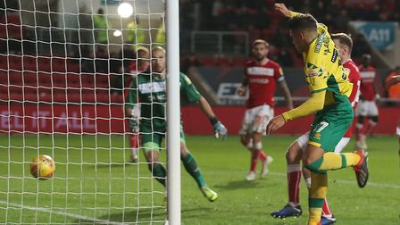 Max Aarons earned Norwich City an EFL Championship point against Bristol City at Ashton Gate. Pictu