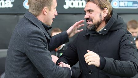 Swansea manager Graham Potter is a big fan of Norwich City head coach Daniel Farke Picture: Paul C