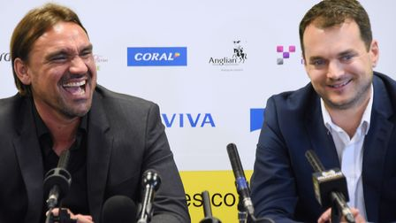 Daniel Farke and Stuart Webber have turned Norwich City into Championship promotion contenders Pictu