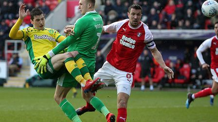 Kenny McLean put Norwich City in front at Rotherham United Picture: Paul Chesterton/Focus Images Lt