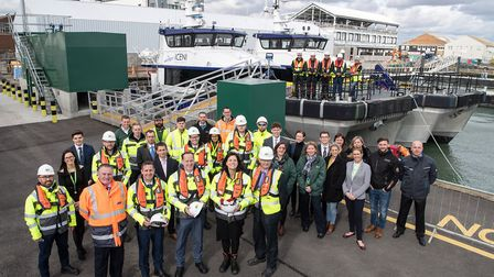 Government energy minister Claire Perry visited Lowestoft to launch to a £250m deal for the offshore