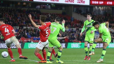 Onel Hernandez rifles Norwich City in front at Middlesbrough, earning a crucial win the process. Pic