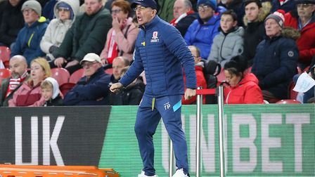 Middlesbrough manager Tony Pulis during the defeat to Norwich City Picture: Paul Chesterton/Focus Im
