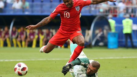Sweden goalkeeper denied England star Raheem Sterling during the 2018 World Cup quarter-finals in Ru