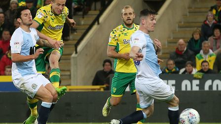 Marco Stiepermann set Norwich City on the way to sealing promotion against Blackburn Rovers. Picture