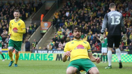 Russell Martin celebrates scoring against Team Wes in front of the Barclay Picture: Paul Chesterton/