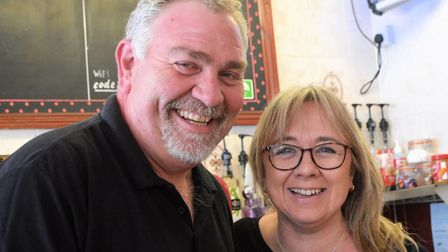 Martin and Nikki Rodwell have taken over Breakers cafe in Cromer. Picture: Andreas Yiasimi