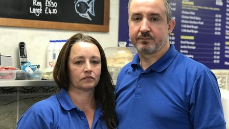 Paul and Victoria Slater owners of Long John Hill Fish Bar started a petition to take off VAT from F