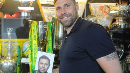 Grant Holt launched hiw autobiography, A Real Football Life, at Carrow Road Picture: Tony Thrussell