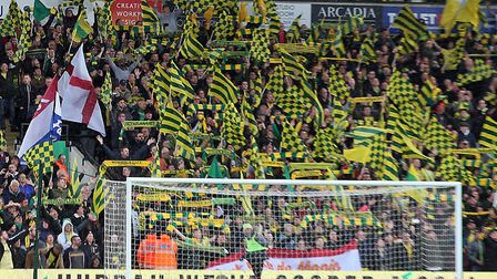 The Carrow Road faithful were in cracking colour and voice throughout Norwich City's stunning Champi