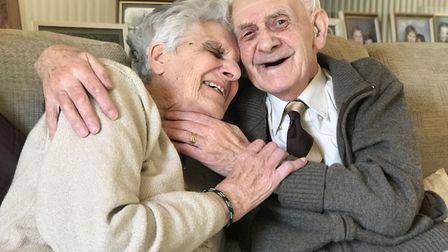 Jack and Pauline Hamment are celebrating their 70th wedding anniversary. Picture: Victoria Pertusa