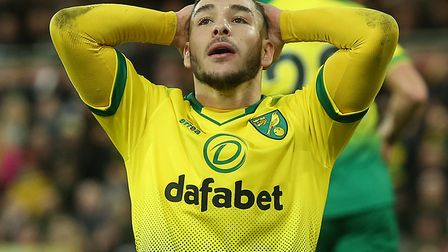 Norwich City midfielder Emi Buendia has had to settle for cameos since his quad injury Picture: Paul