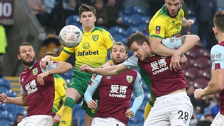 Grant Hanley headed Norwich City in front at Burnley Picture: Paul Chesterton/Focus Images Ltd
