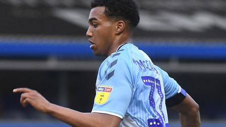 Norwich City loanee Sam McCallum was involved in Coventry City's 1-0 win over Ipswich Town Picture: