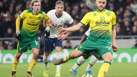Teemu Pukki netted a penalty in a 2-1 Premier League defeat at Tottenham Picture: Paul Chesterton/Fo