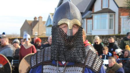 Sheringham Viking Festival, which got off to a successful start, in spite of wind and rain. Photo: