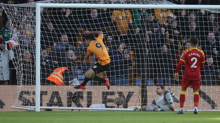 Raul Jimenez makes sure of victory with Wolves' third on a disappointing day for the Canaries. Pictu