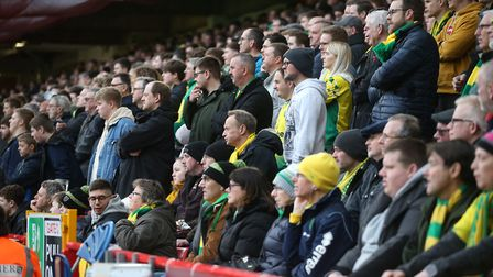 Norwich City supporters won't be able to watch their team for at least four weeks. Picture: Paul Che