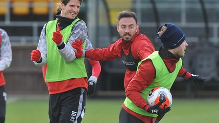 Norwich City players training at Colney - when will they be back there with a game to look forward t