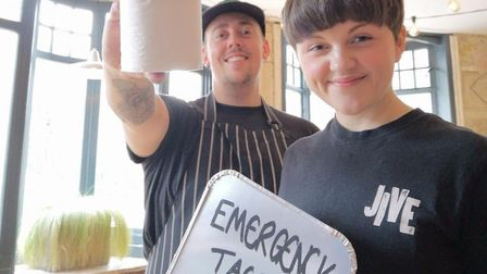 Jive Kitchen in Norwich are delivering emergency taco kits with a free loo roll as people are stuck