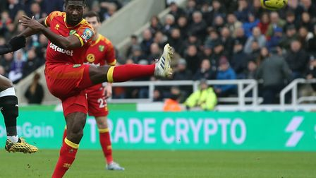 What happens when the ball leaves Alex Tettey's boot? Physics lesson will help ... Picture: Paul Ch