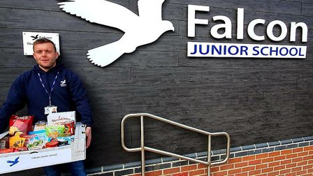 Matt Smith, site manager of Falcon Junior School in Sprowston, who set up a foodbank project to help