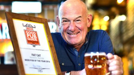 Colin Keatley, owner of The Fat Cat, The Fat Cat & Canary and The Fat Cat Brewery Tap, all in Norwic