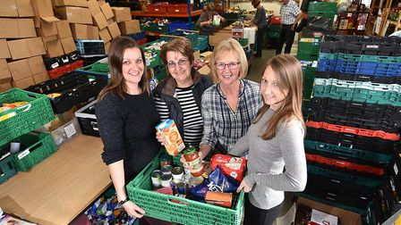 Norwich Foodbank has changed their delivery model to send out more parcels during lockdown. Pictured