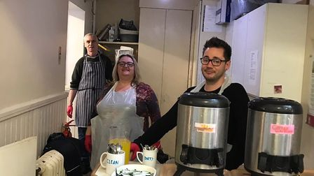 (From left) Andrew Ward, Nicola Darkin and Danny Adams from Norwich Salvation Army which is giving o