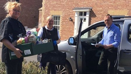 The Aylsham and District CareTrust team loading up for delivery. Pictures: supplied by Jane Bishop