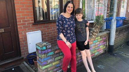 Lucy and Jack Baker were taken aback when a grateful NHS worker left chocolates. Picture: Lucy Baker