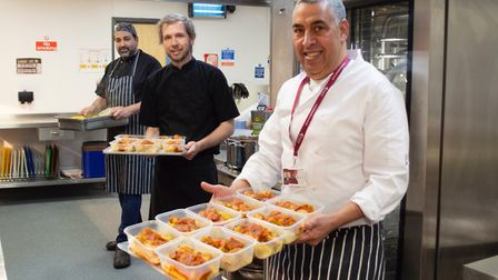Fresh out of the oven: Ali Guenaoui (Right), Simon Wainwright (Middle), and Chris Chryssafi (Left) w