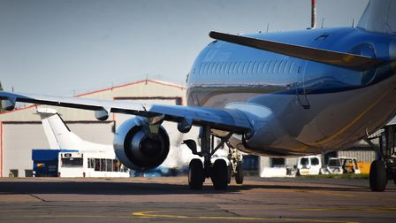 A KLM plane at Norwich Airport. The firm has announced a new com[pensation scheme for customers who
