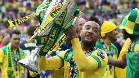 Nathan Redmond scored as Norwich City sealed promotion to the Premier League at Wembley in 2015 Pict
