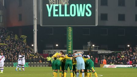 The Norwich players have to get used to life without fans at Carrow Road for the time being Picture: