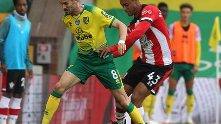Mario Vrancic was a second half substitute in Norwich City's return against Southampton Picture Paul