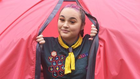 Holly Porter is sleeping in a tent for 100 days to raise money for Nelson's Journey Pictures: BRITTA