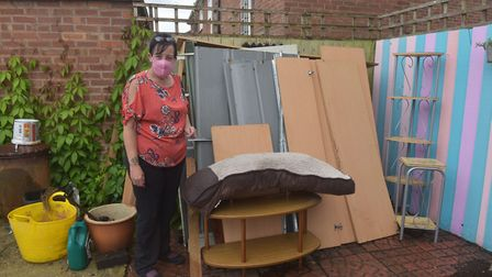 Tracy Shaw's bed and wardobe were destroyed by the mould. Pictures: BRITTANY WOODMAN