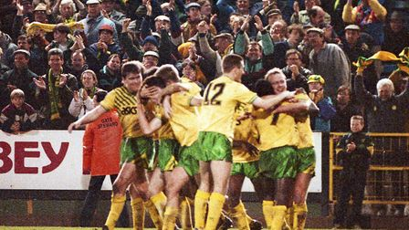 FA Cup quarter-final delight for City against Southampton back in 1992 Picture: Archant