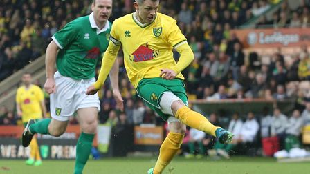 Jamie Cureton was back in action at Carrow Road in May 2019, as one of the Norwich City legends taki