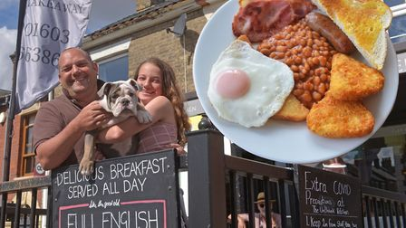 The Unthank Kitchen in Norwich reopens after lockdown, pictured is owner Chris Dunn, daughter Pippa